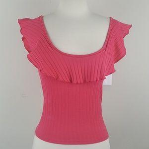 BP. Corral Pink Flowing Neckline Top sz XXS